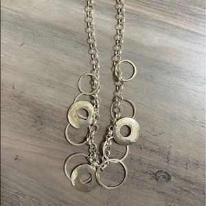 Silpada circle hammered necklace